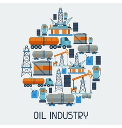 Industrial background design with oil and petrol vector
