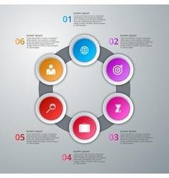 infographics six options vector image vector image