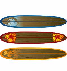 long board set vector image vector image