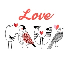 Love little birds vector