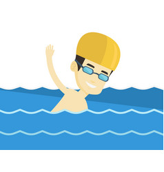 Man swimming vector