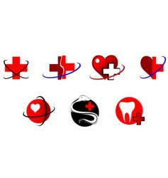 medicine icons and signs vector image vector image