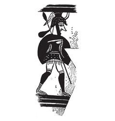 Mycenae is a art on a greek vase vintage engraving vector