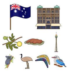 National symbols of australia web icon on vector