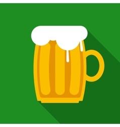 Overflowing Beer Mug vector image vector image