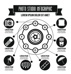 Photo studio infographic concept simple style vector