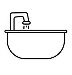 sink icon vector image