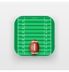 Square icon of American Football sport vector image vector image