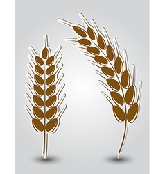 Stickers in the form of wheat ears vector image