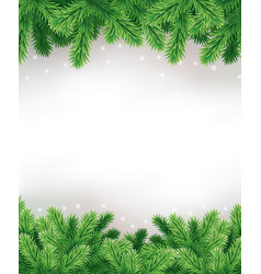 traditional green christmas decorations background vector image