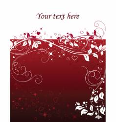 valentine abstract background with hearts vector image