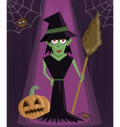 wicked witch Halloween vector image
