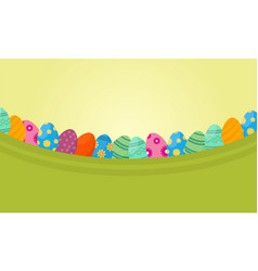 Flat of lined easter egg vector