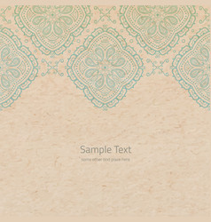 Ornate background with copy space color faded out vector