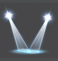 scene transparent light effects spotlights vector image