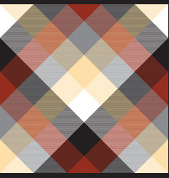 Beige color check plaid seamless pattern vector