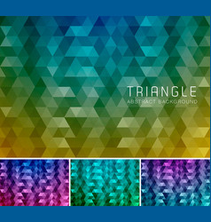 Triangle abstract background 12 vector