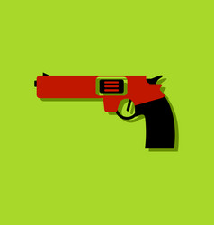 flat icon design collection military handgun vector image