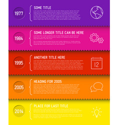 Fresh infographic timeline report template vector