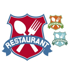 restaurant label vector image