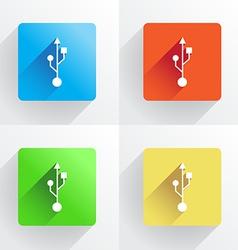 Set of USB symbol vector image