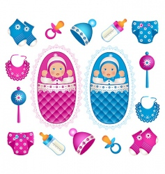 baby twins vector image