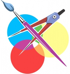 artist tools vector image