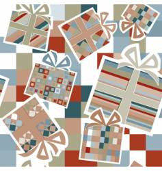 Wallpaper with gift boxes vector