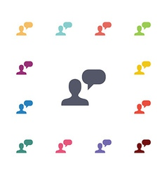 Conversation flat icons set vector