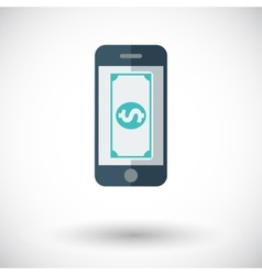 Phone with dollar vector image