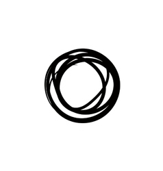 Round design element Crcle black frame Rond vector image