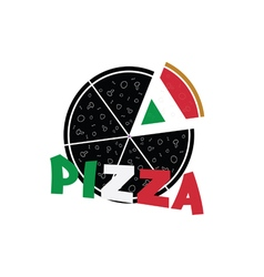 Pizza food refreshment italy vector