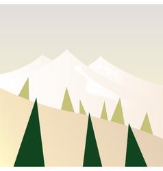 Beautiful Mountains in retro style - retro vector image