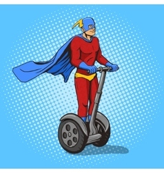 Superhero ride on electric transport vector