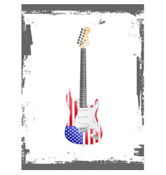 American rock and roll guitar vector