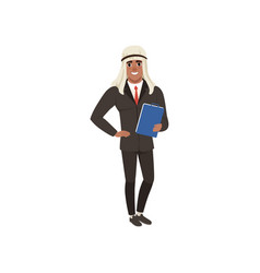 arabic businessman character in formal wear vector image vector image
