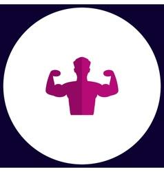Bodybuilder computer symbol vector