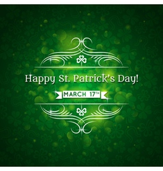 Card for st patricks day with many shamrocks vector