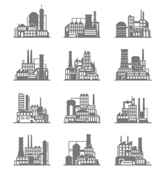 Industrial building icons set vector image vector image