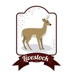 Isolated deer livestock animal design vector