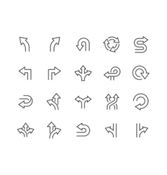 Line Direction Icons vector image