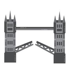 London tower bridge united kingdom landmark vector