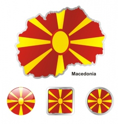 macedonia vector image