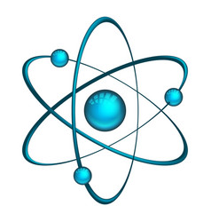 physics atom model with electrons vector image vector image