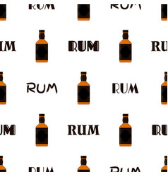 rum bottles pattern whiskey brandy liquor rum for vector image