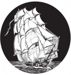 Sailing ship emblem vector