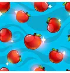 Seamless pattern with fresh apples vector image