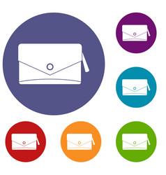 Small bag icons set vector