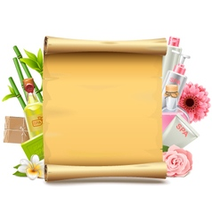 SPA Paper Scroll vector image vector image
