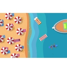 Summer beach flat vector image